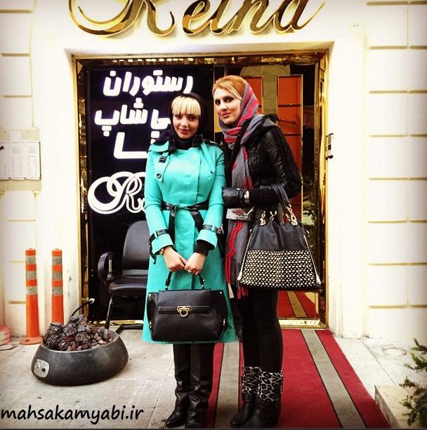 مهسا کامیابی و مهشاد عرب در رستوران +عکس