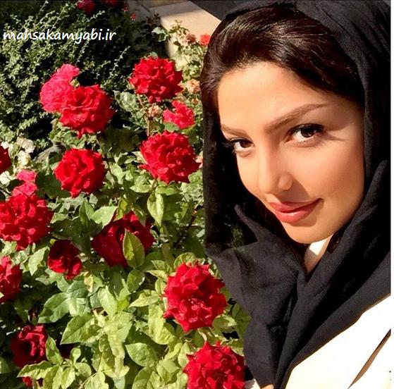مهسا کامیابی و گلها +عکس