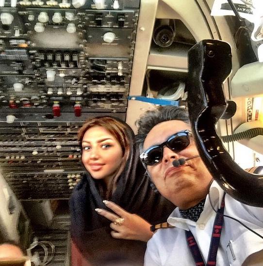 مهسا کامیابی در کابین هواپیما +عکس